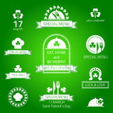 St patrick's day labels. Stock Image