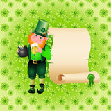 St. Patrick's Day leprechaun Royalty Free Stock Image