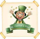 St Patrick`s Day with leprechaun and gold Stock Images