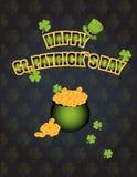 St. Patrick`s Day. Leprechaun hat.Leprechaun gold. Vector illustration stock illustration