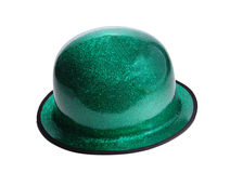 St. Patrick's day Leprechaun hat with path. St. Patrick's day Leprechaun hat, isolated on white with path Royalty Free Stock Photos