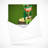 St. Patrick's Day. Leprechaun With Pot Of Gold. Stock Images