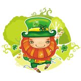 St. Patrick's Day leprechaun series 4 Stock Photography