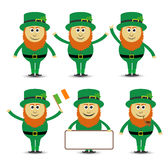 St. Patrick`s day leprechaun set Stock Photography