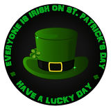 St.patrick`s day logo Royalty Free Stock Photos