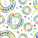 St. Patrick's Day mandala circle clover rainbow style seamless pattern. This illustration is design happy Saint Patrick's Day with mandala circle Royalty Free Stock Image