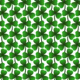 St.Patrick`s day, 17 March Lucky Day, green leaves pattern. Vector illustration Stock Images