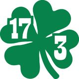 St. Patrick`s Day March of 17th with clover. Vector Royalty Free Stock Photography