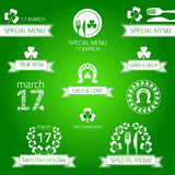St patrick's day menu. Stock Photo