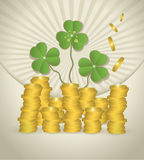 St. Patrick's Day Money coin Stock Photography