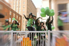 St.Patrick's day in Montreal. Stock Image