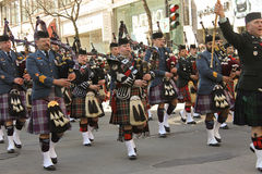 St.Patrick's day in Montreal. Montreal (Quebec Canada) March 20th, 2011. Scottish during the St.Patrick's day in Montreal on Ste Catherine Street Stock Images