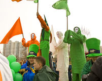 St. Patrick`s day in Moscow Royalty Free Stock Images