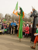 St. Patrick`s day in Moscow Royalty Free Stock Photos