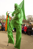 St. Patrick`s day in Moscow Stock Images