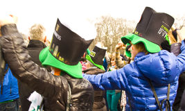 St. Patrick`s day in Moscow Royalty Free Stock Image