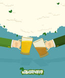 St. Patrick's Day Mug of beer. Drink Bar Flyer Poster Stock Image