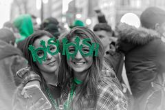 St. Patrick`s Day in New York in 2017 royalty free stock image