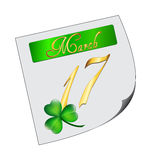 St. Patrick's day note Stock Photo