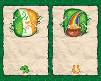 St. Patrick's Day paper  series 3 Royalty Free Stock Photos