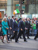 St. Patrick's Day Parade. NEW YORK, NY, USA MAR 17: New York Mayor Bloomberg and Police Commissioner Ray Kelly at the St. Patrick's Day Parade on March 17, 2012 royalty free stock photo