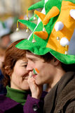 St. Patrick`s  Day Parade 3, Face painting Royalty Free Stock Photo