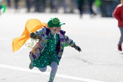 St. Patrick's Day Parade Chicago 2019 royalty free stock photography