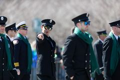 St. Patrick's Day Parade Chicago 2019 stock images