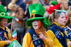 St. Patrick's Day parade in Limerick Royalty Free Stock Image