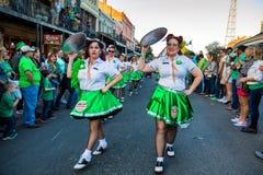 St. Patrick`s Day Parade New Orleans  Louisiana Royalty Free Stock Photography