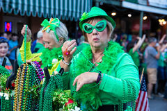 St. Patrick`s Day Parade New Orleans  Louisiana Royalty Free Stock Image