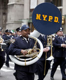 St. Patrick's Day Parade New York 2013. NEW YORK, NY, USA - MAR 16:  Police Department at the St. Patrick's Day Parade on March 16, 2013 in New York City, United Royalty Free Stock Image