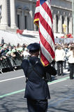 St. Patrick's Day Parade in NYC. Military Man at Parade Rest in the NYC Parade - Circa 2009 Stock Photos