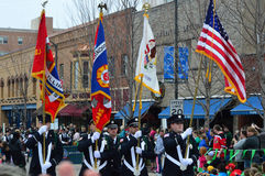 St. Patrick's Day Parade. This photo was taken during St. Patrick's Day in Bloomington Normal, Illinois Stock Photos