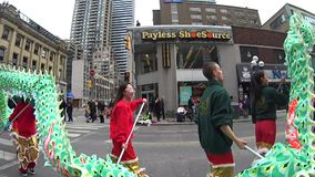 St. Patrick's Day Parade in Toronto stock video