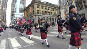 St. Patrick's Day Parade in Toronto stock footage