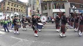 St. Patrick's Day Parade in Toronto stock video footage