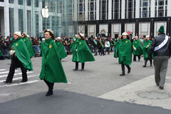 St Patricks Day Parade. Women march on Fifth Avenue, as part of the  2014 Saint Patricks Day Parade, in New York City Royalty Free Stock Photos