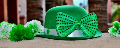 St. Patrick`s Day Party Display. Royalty Free Stock Image