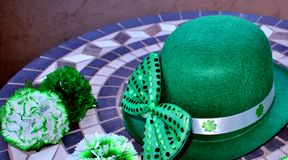 St. Patrick`s Day Party Display. Stock Photos