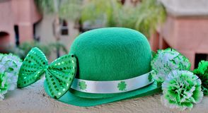 St. Patrick`s Day Party Display. Royalty Free Stock Photo