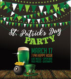 St. Patrick's Day party invitation poster Stock Photo