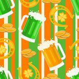 St. Patrick's Day pattern Stock Images