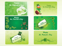St. patrick's day pattern mini cards Stock Images