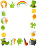 St. Patrick s Day Photo Frame. Photo frame, post card or page for your scrapbook. Subject: St. Patricks or Saint Patrick s Day ornaments, isolated on white vector illustration