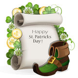 St. Patrick's Day placard design Stock Photo