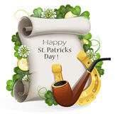 St. Patrick's Day placard Stock Images