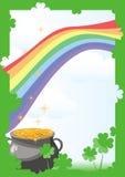 St. Patrick's Day postcard Royalty Free Stock Image