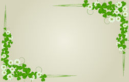 St. Patrick's Day postcard. Standard size Royalty Free Stock Images