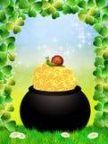 St.Patrick's Day postcard. Illustration of St.Patrick's Day stock illustration